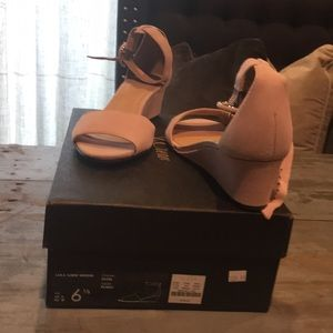 J Crew Laila Wedges Pink Suede